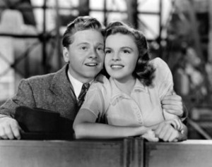 Rooney with Judy Garland