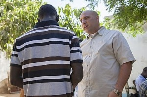 Jorge Reina (right), a missionary from Venezuela, talks with Ahmad Faraj*, the first young man Reina felt God leading him to disciple after he moved to Senegal a year ago. After deciding to follow Jesus Christ, Ahmad's family wanted to kill him, and he narrowly escaped by sneaking out through a window. He now lives and serves alongside Jorge at a home for boys in Senegal. *Name changed  Photo © 2014 IMB / Lina White