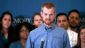 Dr. Kent Brantly delivers remarks as he is released from hospital