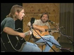 Richie Mullins and Mitch McVicker perform together in 1995