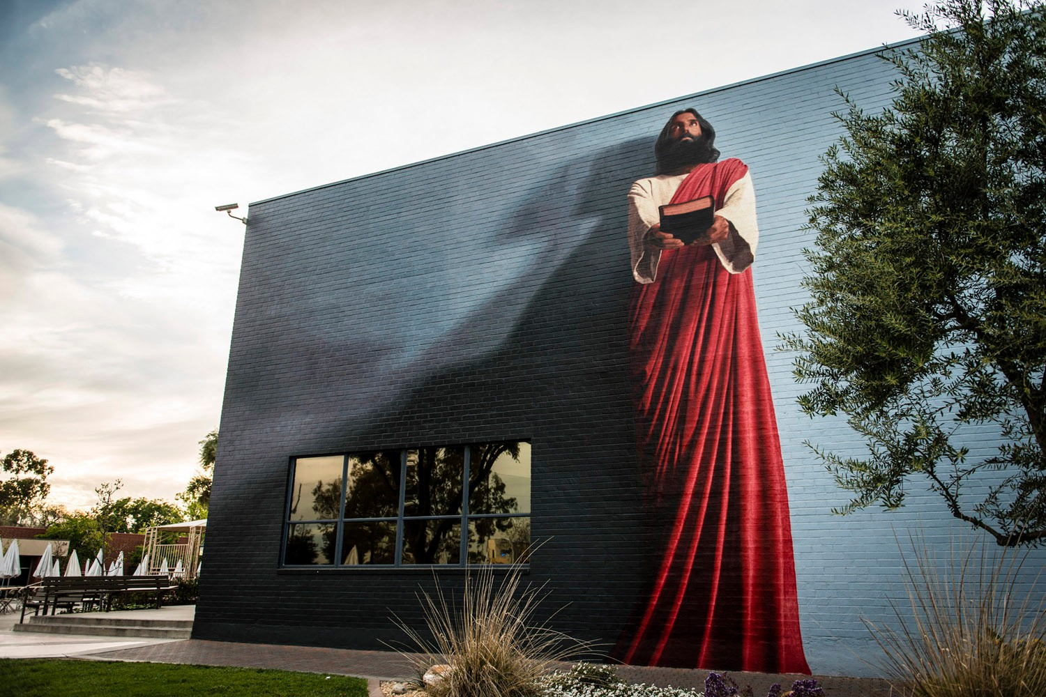 The good news today infusing christianity into la s for Christian mural