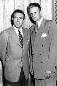 Louis Zamparini met Billy Graham at a 1949 tent meeting.