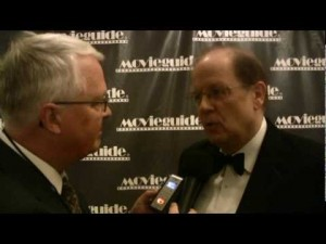 Dan Wooding interviewing Dr. Ted Baehr at a previous Movieguide® Gala