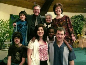 Pastor Dave with his family
