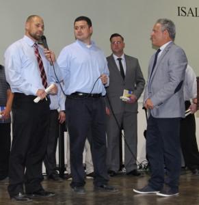 Brett Seastadt, Oscar Cruz and President Pasco Manzo - Graduation 5-29-15