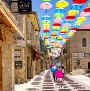 Umbrella St Project Jerusalem