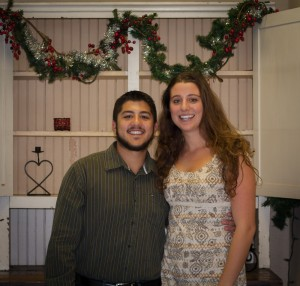 Chris and Elise Zajac at a recent Thanksgiving dinner event held for families in the community.