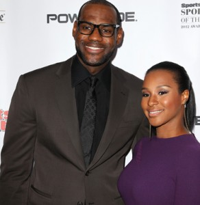 "LeBron James and Savannah Brinson attend the Sports Illustrated's ""Sportsman of the Year"" awards gala at Espace on Wednesday Dec. 5, 2012 in New York. (Photo By Donald Traill/Invision/AP)"