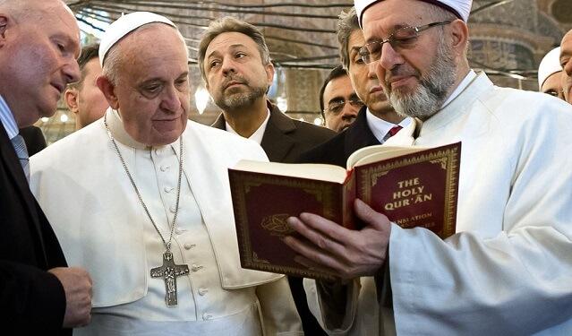 The Roman Church - pope-reads-kuran