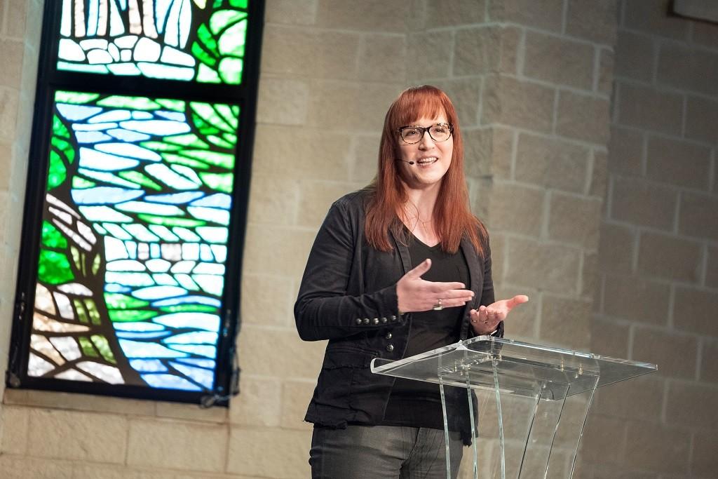 Transgender Baptist Preacher - Allyson-Robinson-Preaching