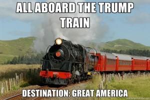 All aboard the Trump Train