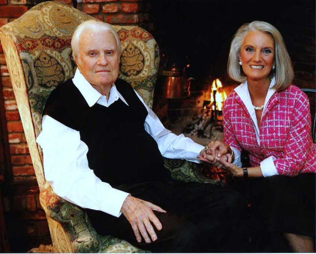 Anne Graham Lotz with Father Billy Graham
