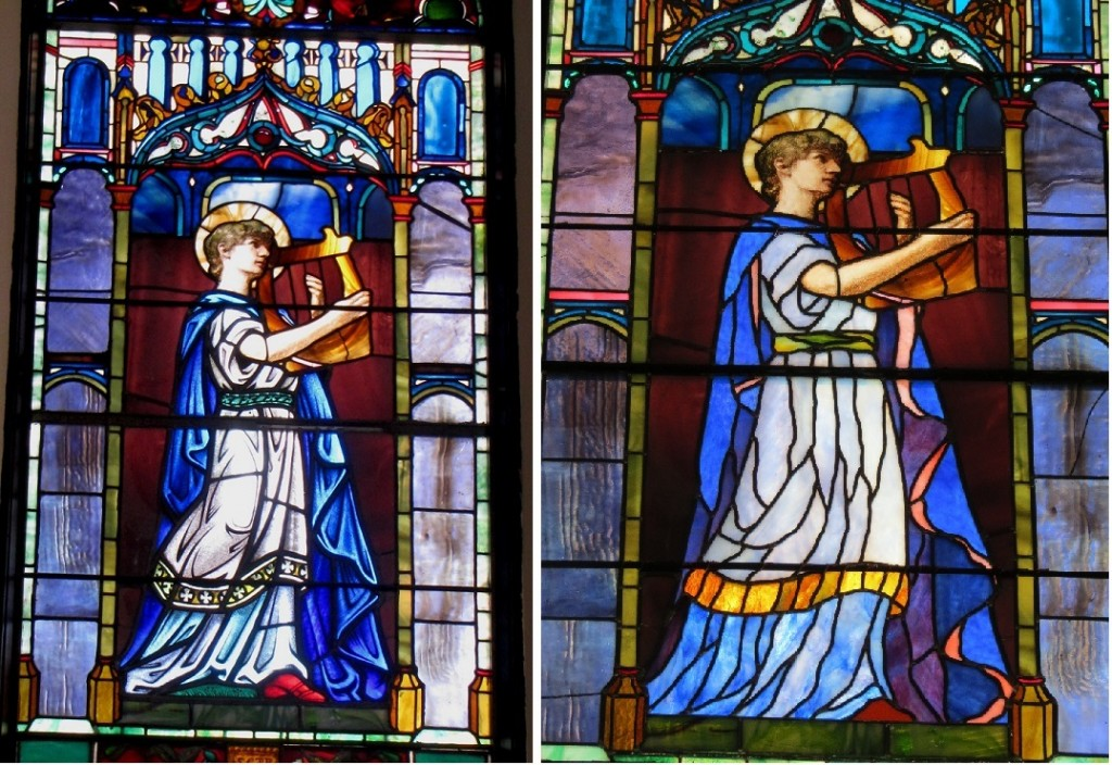 Stories in Glass - John LeFarge window -before&after