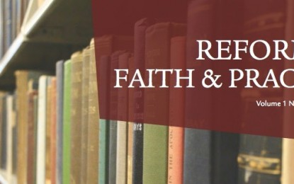 Reformed Theological Seminary Launches Online Journal