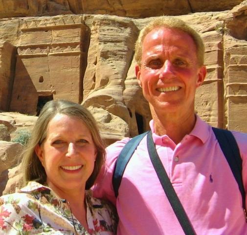 Tell Her - Meg-and-Rusty-in-Petra, Jordan Press tour