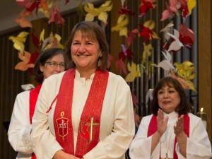 United Methodists elect - Newly elected Bishop Karen Oliveto