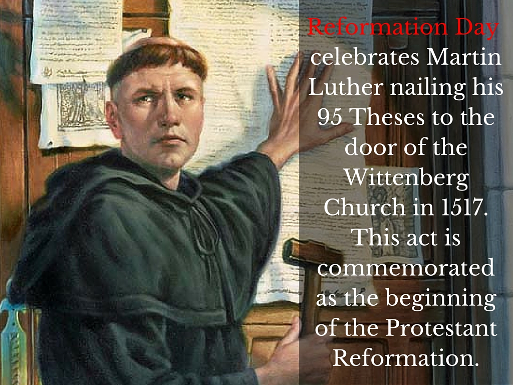 Martin luther essay reformation sunday