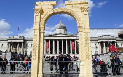 Arch from Temple of Ba'al to Stand in New York