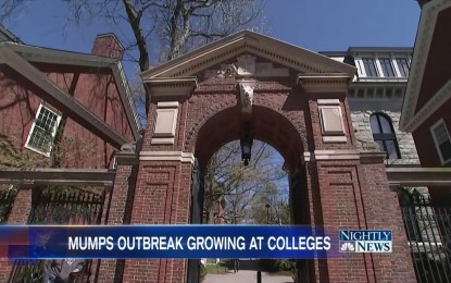 Mumps outbreak among vaccinated students at Harvard