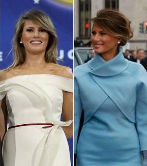 Secret message hidden in Melania Trump's inaugural dress