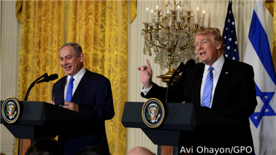 Trump Effectively Puts Israel Back in the Driver's Seat
