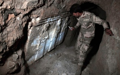 Ancient Assyrian palace found in Mosul ruins