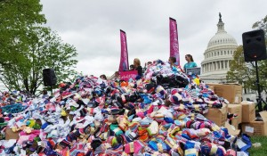 Pro-life groups deliver 200,000 baby socks to U.S. Capitol