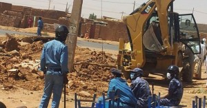 Sudanese officials bulldoze