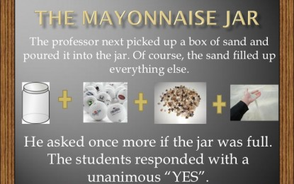THE MAYONNAISE JAR…AND COFFEE