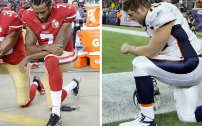 Colin Kaepernick vs. Tim Tebow: A tale of two Christians on their knees