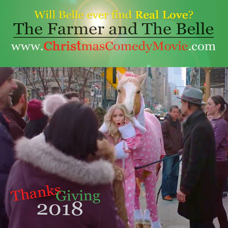 the good news today two actors film actual wedding in their new movie the farmer and the belle - Christmas Belle Movie