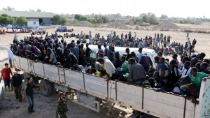 Thousands of trapped migrants