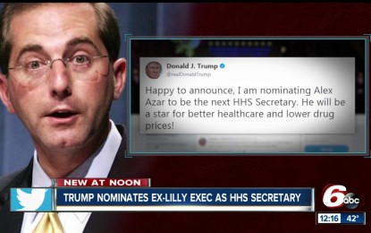 President Trump Nominates Big Pharma Pro-Vaccine Exec as Secretary of the Health and Human Services