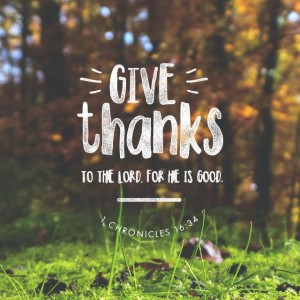 Remembering to Give Thanks
