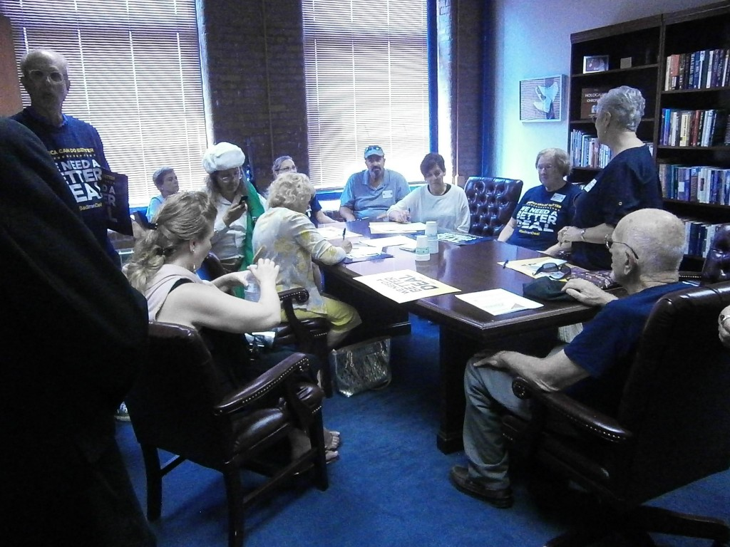 In the Beginning - Jews and Christians at Rep. Ciccilines office re Iran