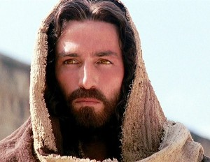 "Caption: Actor Jim Caviezel portraying Jesus in ""The Passion of the Christ."""