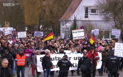 Mass protests against Merkel and immigration are spreading through Germany