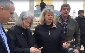 Caption: Tour guide says lawmakers questioned for taking olive branch from holy site; police say Scott Tipton and David McKinley 'not detained or arrested'
