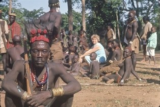 God Can Wield - Lavina with the Majangir people in 1964