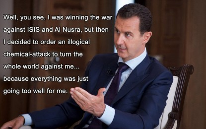 'Zero real evidence' Assad behind chemical attack