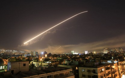 Syrian air defenses repel missile strikes targeting two airbases