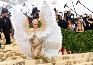 NEW YORK, NY - MAY 07:  Katy Perry attends the Heavenly Bodies: Fashion & The Catholic Imagination Costume Institute Gala at The Metropolitan Museum of Art on May 7, 2018 in New York City.  (Photo by Dia Dipasupil/WireImage)