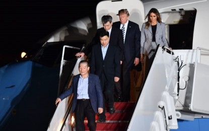 President Trump and First Lady Melania Welcome US Prisoners Released by North Korea