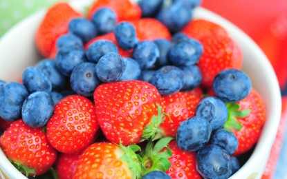 Avoid a heart attack by eating blueberries and strawberries, according to Harvard Medical School