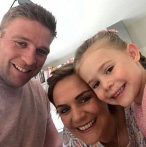 Caption: Tiffany Youngs, 32, pictured with her daughter Maisie and husband Tom, says he cancer has disappeared after a year of alternative therapies including fasting and cannabis oil Caption: om Youngs' wife was preparing him for life without her and was about to hire a nanny to help him when she was gone