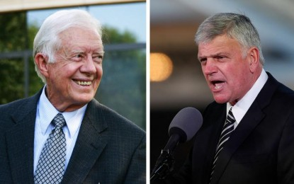 'Absolutely Wrong' -Franklin Graham Calls Out President Carter on Jesus Approving of Gay Marriage
