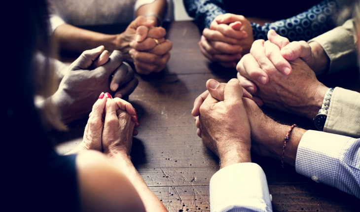 "Together…Lord hear ""our"" prayer"