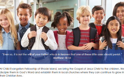 Child Evangelism Fellowship of RI Needs You