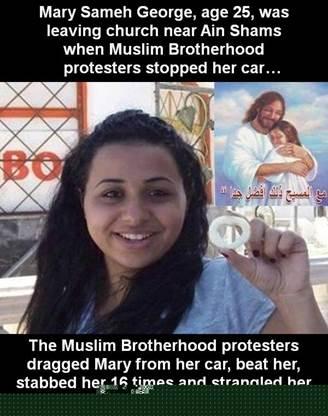 Islamist Mob Kills Coptic Christian Woman in Cairo