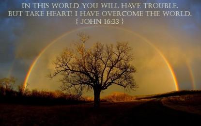 Take Heart for Jesus Has Overcome